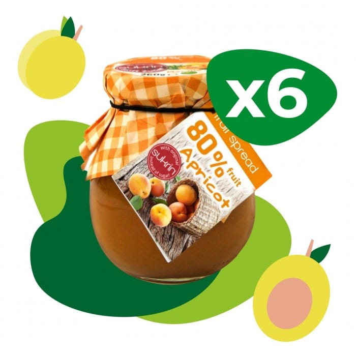 A Set of Apricot Jam Sukrin (6 pcs)