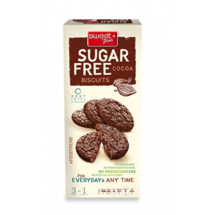 Sugar free cocoa biscuits, 100g