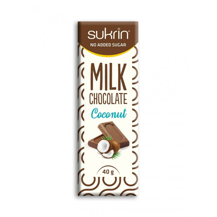 Chocolate Sukrin with coconut, 40 g