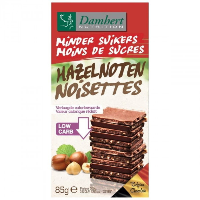 Milk chocolate with hazelnuts Damhert, 85 g
