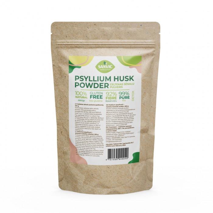 Psilliums (psyllium) – ceļtekas sēnalu pulveris, 250 g