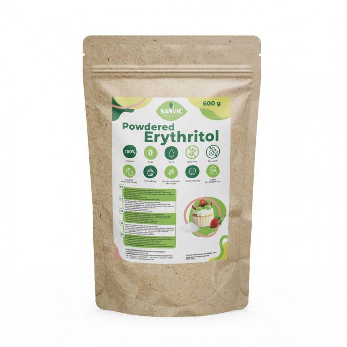 Erythritol, natural sweetener (powdered sugar), 600 g Sweeteners