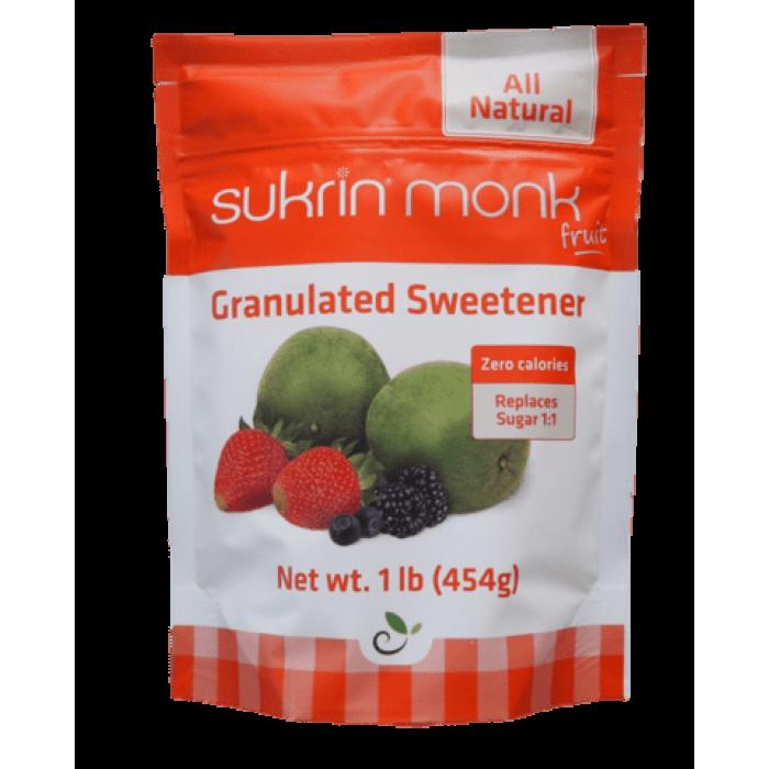 Sukrin Monk Fruit, natūralus cukraus pakaitalas, 454 г Cukraus pakaitalai
