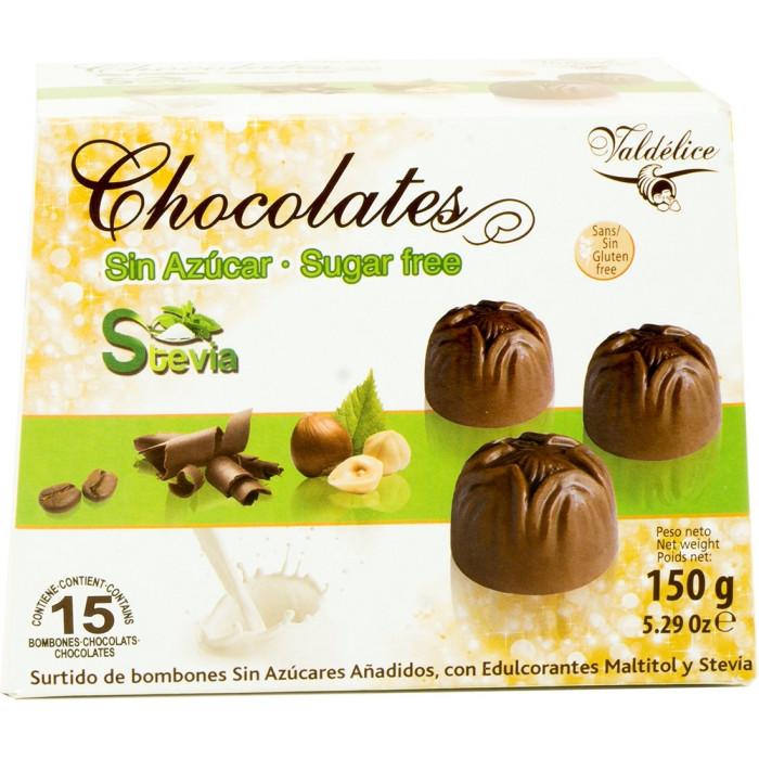 Valdelice Sugar Free Hazelnut Chocolates with Stevia, 150 gr