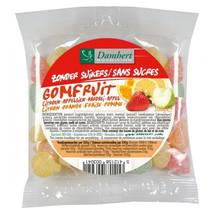 Damhert Without Sugars Gum Fruit