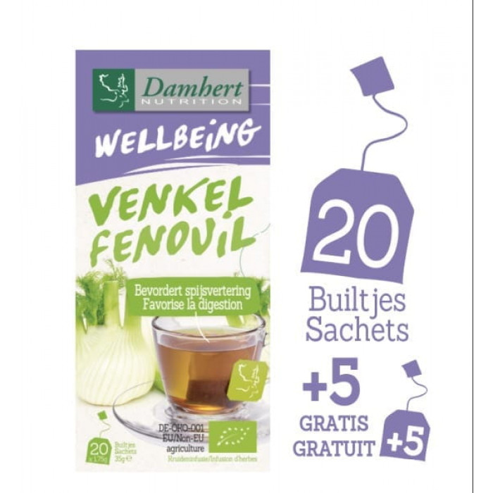 Damhert Wellbeing Tea Fennel For sports and weight loss