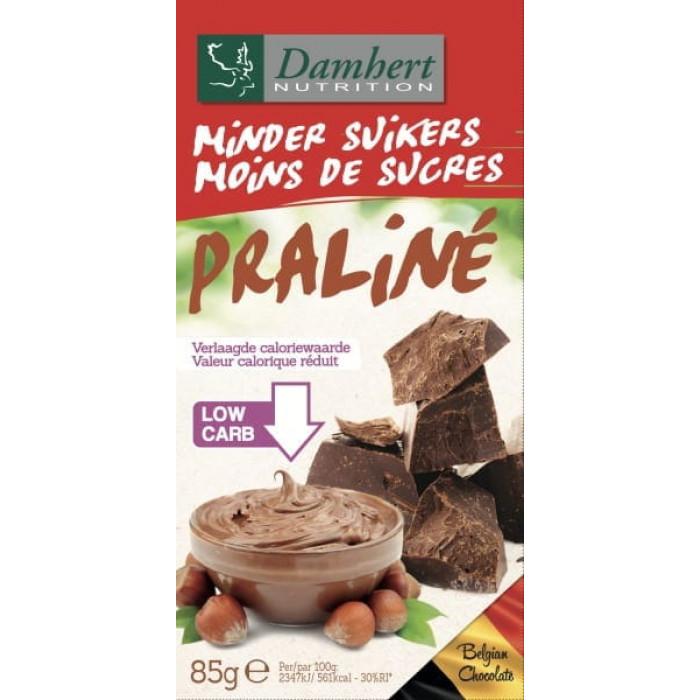 Damhert Less Sugars Chocolat tablet praliné, 85 g