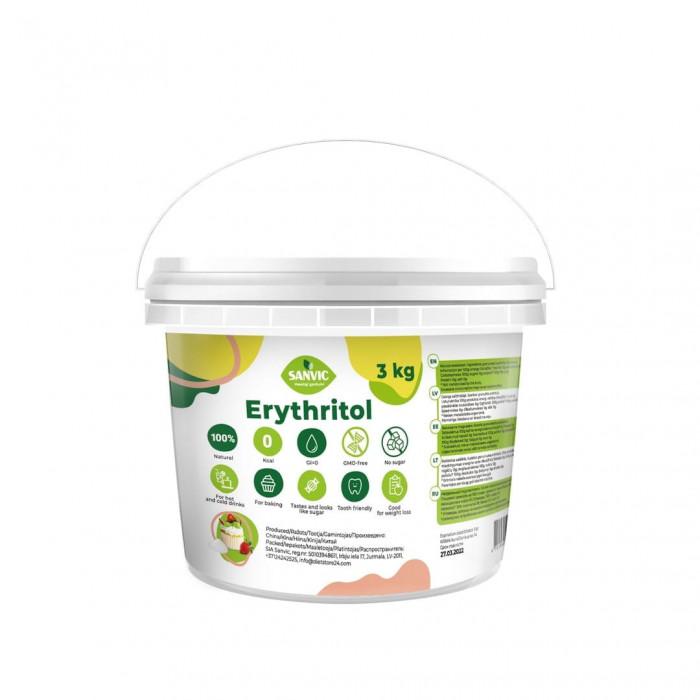 Erütritool, naturaalne suhkruasendaja, 3 kg Suhkruasendajad