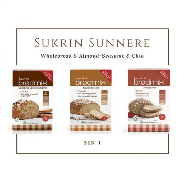 A set of Sukrin mixes for baking bread