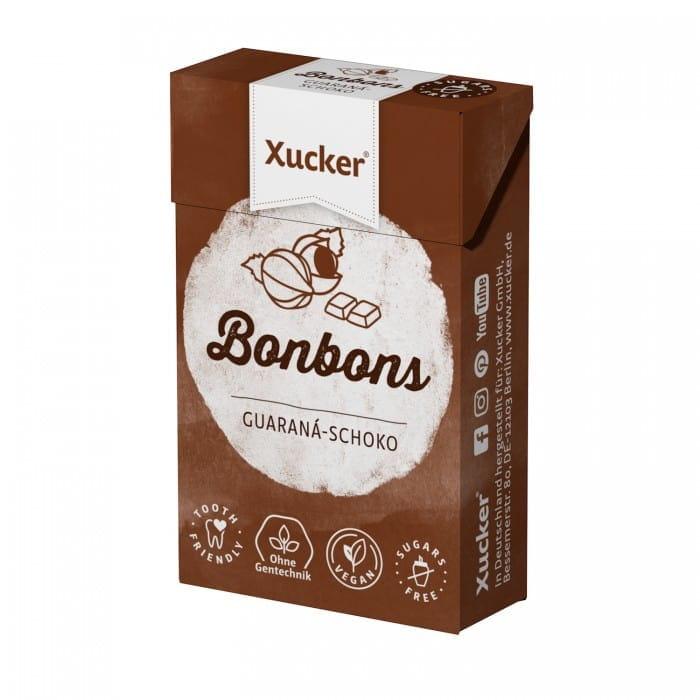 Chocolate & Guarana candies with natural sweetener, 50 g