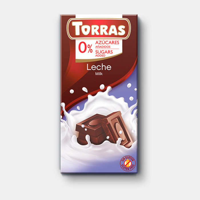 Milk chocolate Torras, 75 g