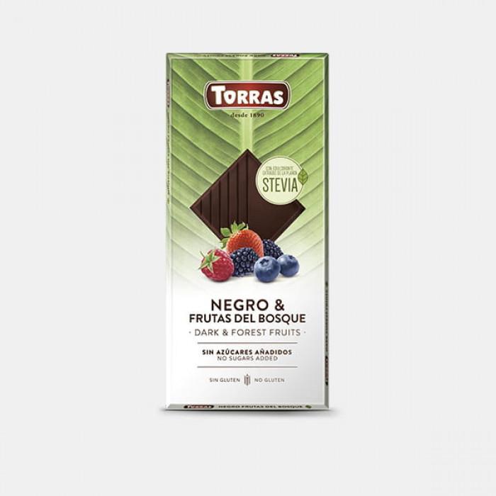 Dark chocolate with forest fruits, Torras, 125 g