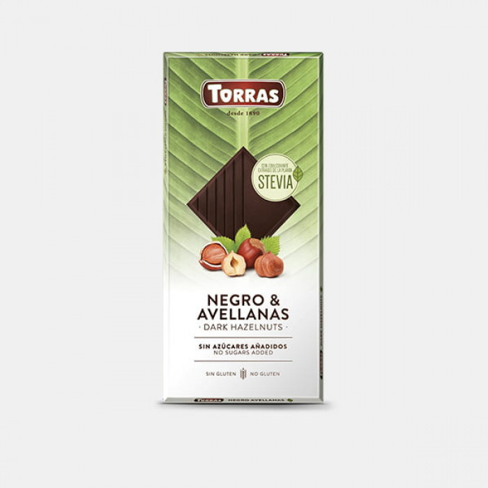 Dark chocolate with hazelnuts, Torras, 125 g