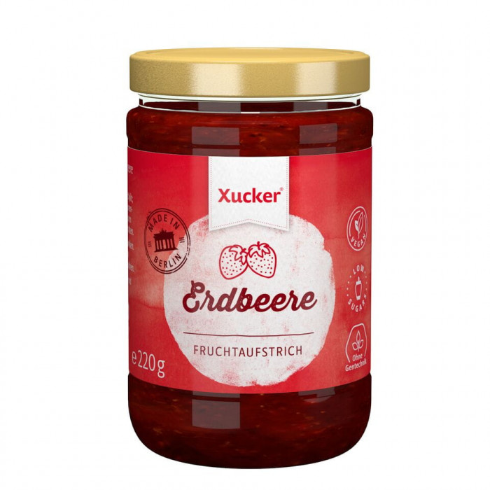 Strawberry Jam with Xylitol, 220 g