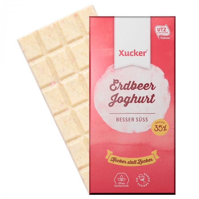 """Baltasis šokoladas """"Jogurtas ir braškės"""", 100 g"""